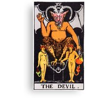 Tarot Card - The Devil Canvas Print