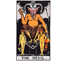 Tarot Card - The Devil Photographic Print