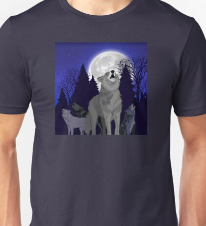 Howling Wolf Pack Unisex T-Shirt