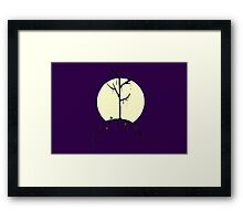 The Gothic Tree - Night and Moonlight Framed Print