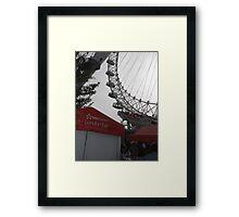 London Eye/EDF ENERGY advert -(260812)- Digital photo Framed Print