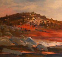 Rocky Countryside around Sutton Grange, Vic Australia by Margaret Morgan (Watkins)