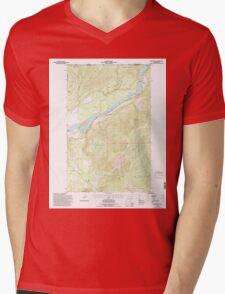 USGS Topo Map Washington State WA Boundary 240177 1992 24000 Mens V-Neck T-Shirt
