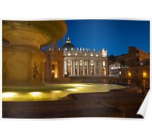 Vatican at blue hour... Poster