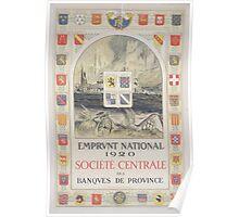 Emprunt National 1920 Société Centrale des Banques de Province Poster