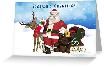 Season's Greetings Christmas Holiday Card by Moonlake