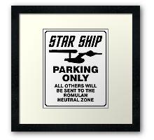 Star ship parking only Framed Print