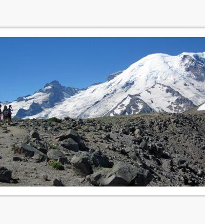 Mt. Rainier from First Burroughs Mountain 2014 Sticker
