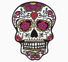 Nice Mexican Skull Design Kids Clothes