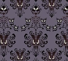 Haunted Mansion - the wallpaper eyes by TreeMuse
