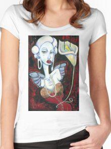 Nouveau Riche Women's Fitted Scoop T-Shirt