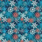 Multi-colored snowflakes form   by Tanor