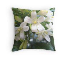 Flowering white Gardenias Throw Pillow