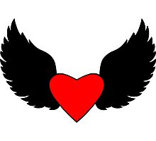 Heart and Wings Photographic Print