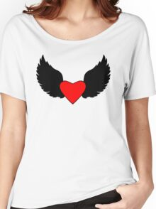 Heart and Wings Women's Relaxed Fit T-Shirt