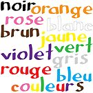 French colour words (print only) by Morag Anderson