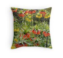 Imperial Crown Flower Yellow Orange Throw Pillow