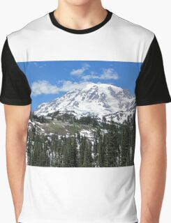 Paradise Inn from afar at Mt. Rainier July 2014 Graphic T-Shirt