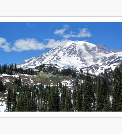Paradise Inn from afar at Mt. Rainier July 2014 Sticker