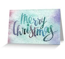 Merry christmas watercolor illustration Greeting Card