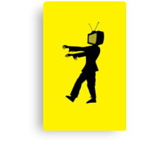 Zombie TV Guy by Chillee Wilson Canvas Print