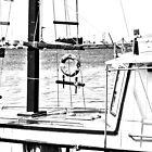 boat (b&w) by Yannis-Tsif