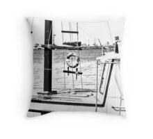 boat (b&w) Throw Pillow