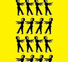 March of the Zombie TV Guys by Chillee Wilson by ChilleeWilson