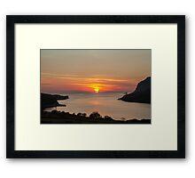 Towney Sunset Framed Print