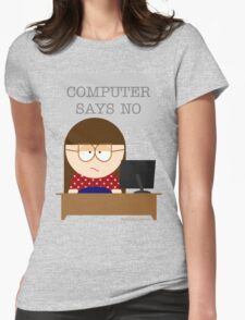Computer says no Womens Fitted T-Shirt