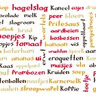 Dutch food words - retro colours by Morag Anderson