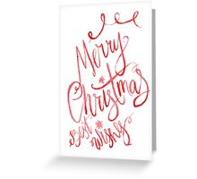 Merry christmas wishes watercolor illustration Greeting Card