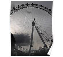 London Eye/Wheel + clouds -(260812)- Digital photo Poster