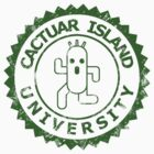 Cactuar Island University (vintage green) by karlangas