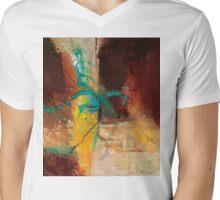 Vein Turquoise Mens V-Neck T-Shirt