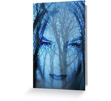 The blue lady of the woods Greeting Card