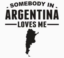 Somebody In Argentina Loves Me Baby Tee