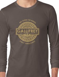 Gallifrey - No Gods or Kings, only Timelords Long Sleeve T-Shirt