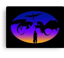 Dany's dragons Canvas Print