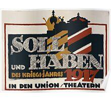 Soll und Haben des Kriegs jahres 1917    in den Union Theatern 998 Poster
