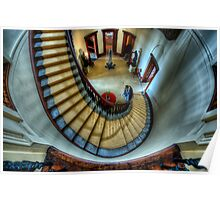 Elizabeth Bay House - Grand Staircase Poster