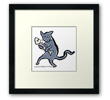 gangsta kitten Framed Print