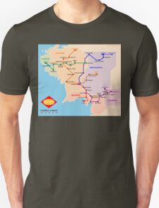 Middle-Earth metro map T-Shirt