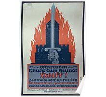 Helft! Ostpreussen schützt eure Heimat Zentralausschuss für den Ostdeutschen Heimatdienst Landesverband Ostpreussen 1097 Poster