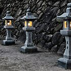 Japanese lanterns at dusk by Cebas