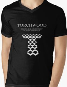 Torchwood; Outside the government, beyond the police Mens V-Neck T-Shirt