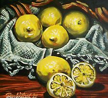 Still life with lemons by Dan Wilcox