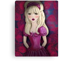 Alice and the Roses Canvas Print
