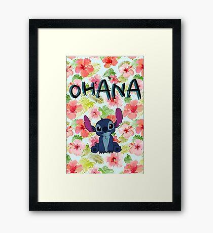 Ohana Stitch Framed Print