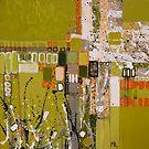 Olive green abstract I. by Miroslava Balazova Lazarova
